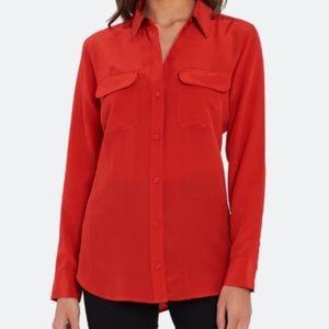 Equipment 100% silk button down shirt